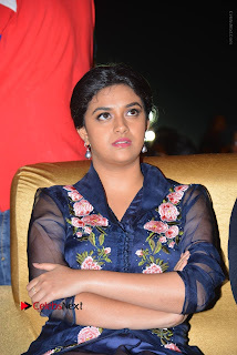 Actress Keerthi Suresh Stills in Blue Long Dress at Nenu Local Audio Launch  0025.JPG
