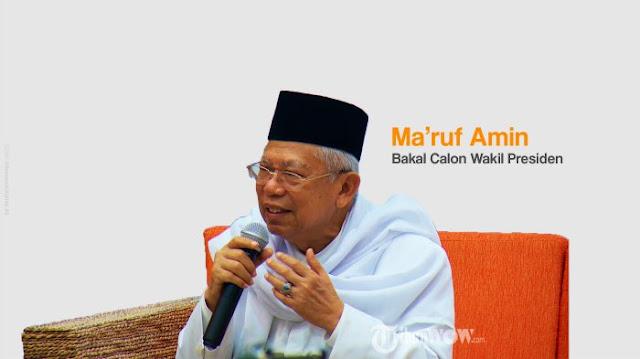 Ma'ruf Amin Akui Dirinya Sudah Tua Ketika Dampingi Jokowi di Pilpres 2019 Nanti