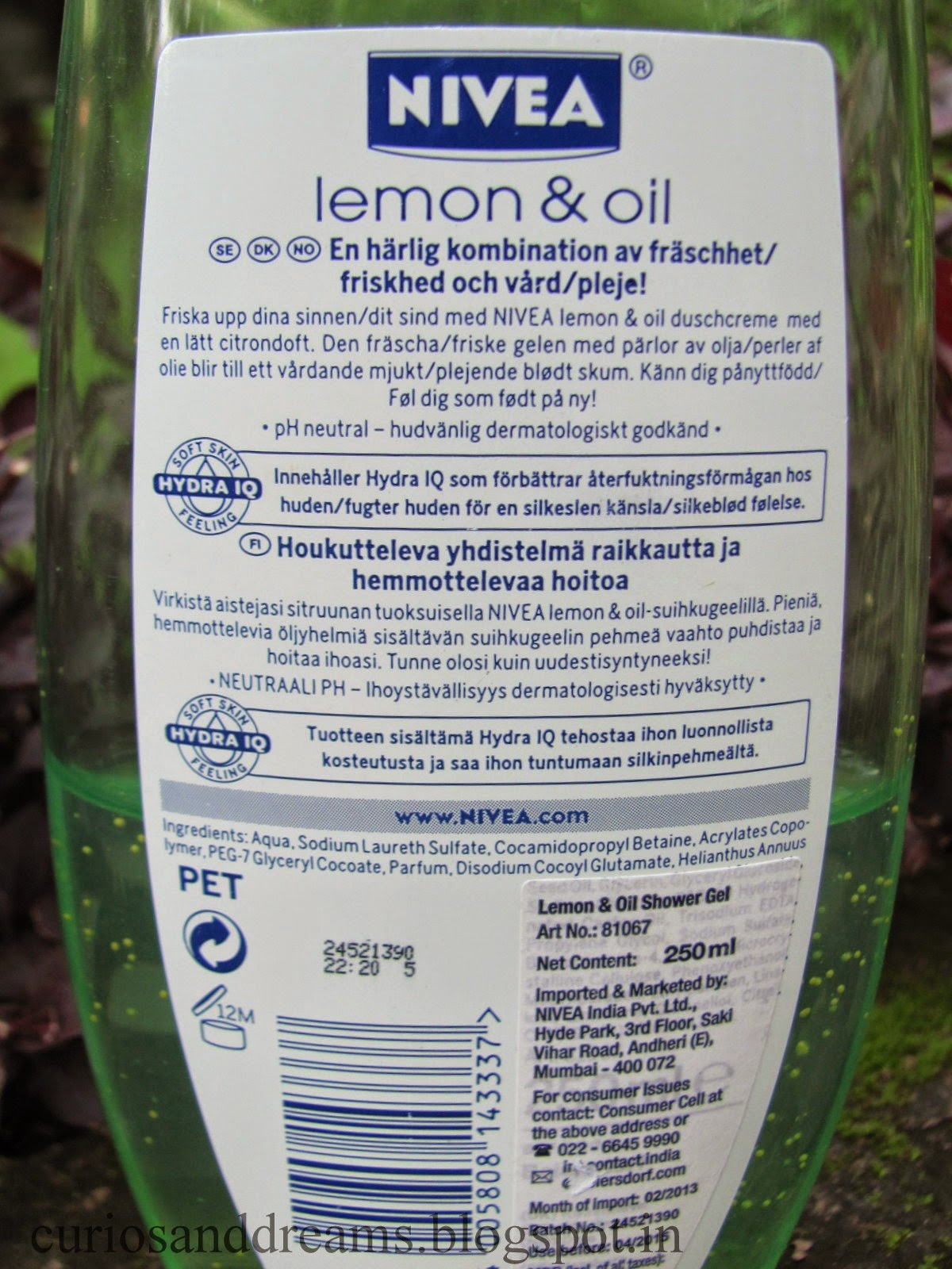 Nivea Lemon & Oil Shower Gel Review