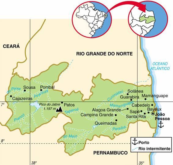 Paraíba | Mapas Geográficos da Paraíba