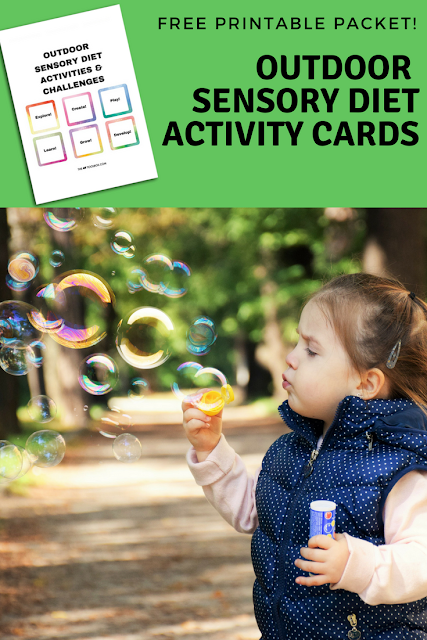 Outdoor Sensory Diet Activity Cards