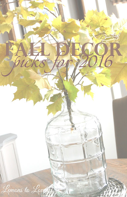 Favorite Fall Decor for 2016