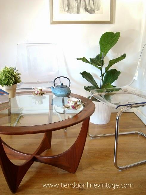 Comprar mesa de centro estilo danés. tienda de muebles daneses en valencia. marca gplan inglesa años 70
