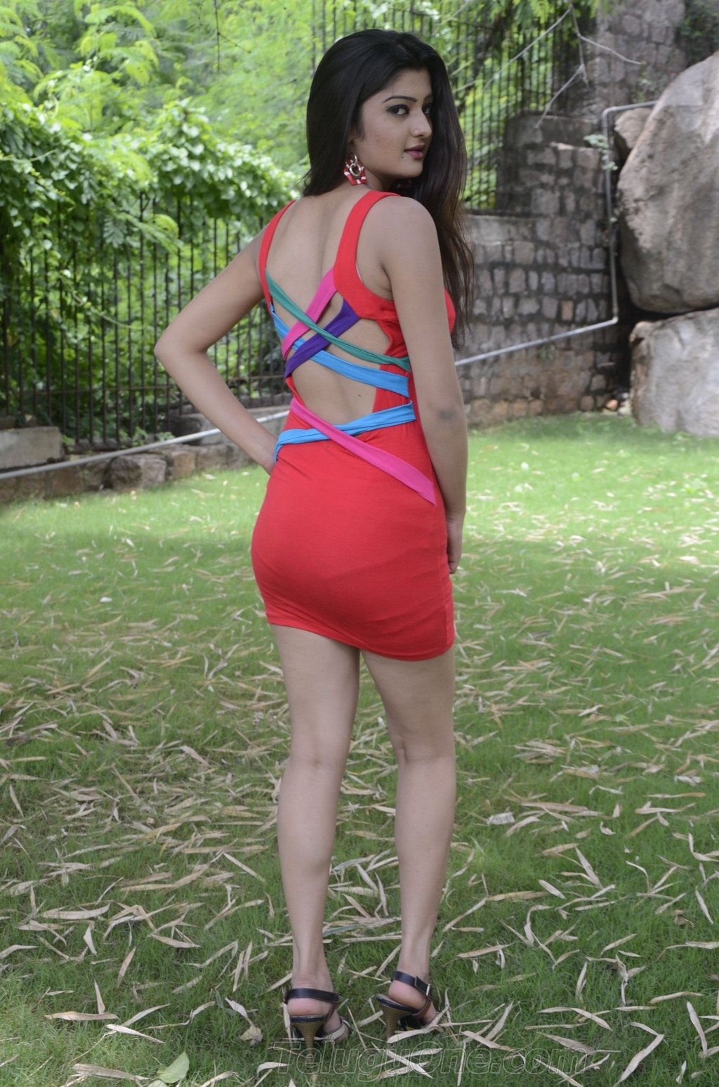 Actress Celebrities Photos Actress Poojitha Spicy Thigh -6828