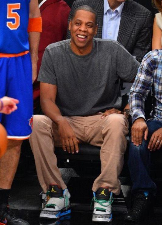 58860da36baa Celeb Sneaker Game  Jayz Rocking Air Jordan Son Of Mars Sneakers