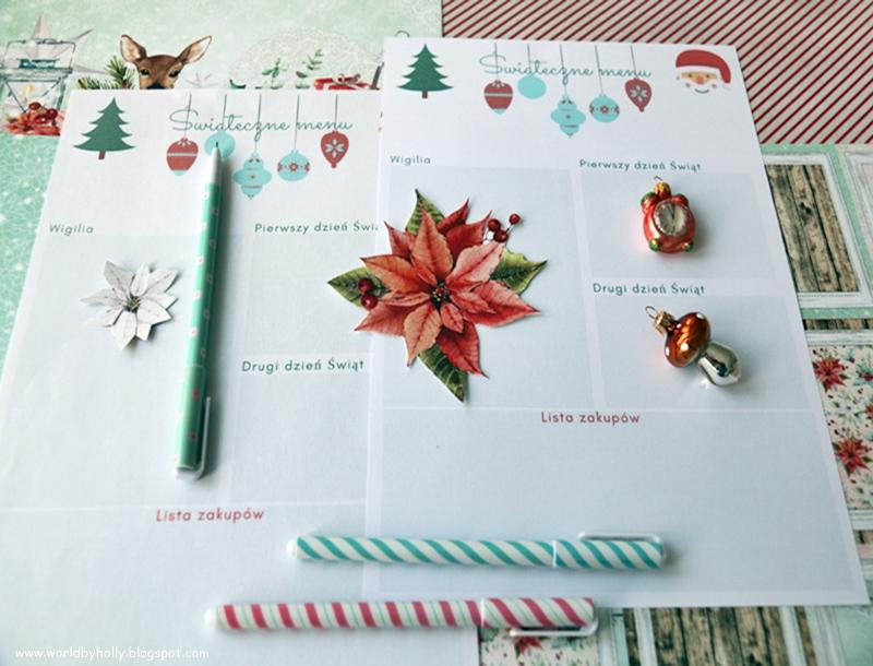 lista zakupów świątecznych, menu świąteczne , menu na świąteczne potrawy, lista na menu świateczne, lista potraw