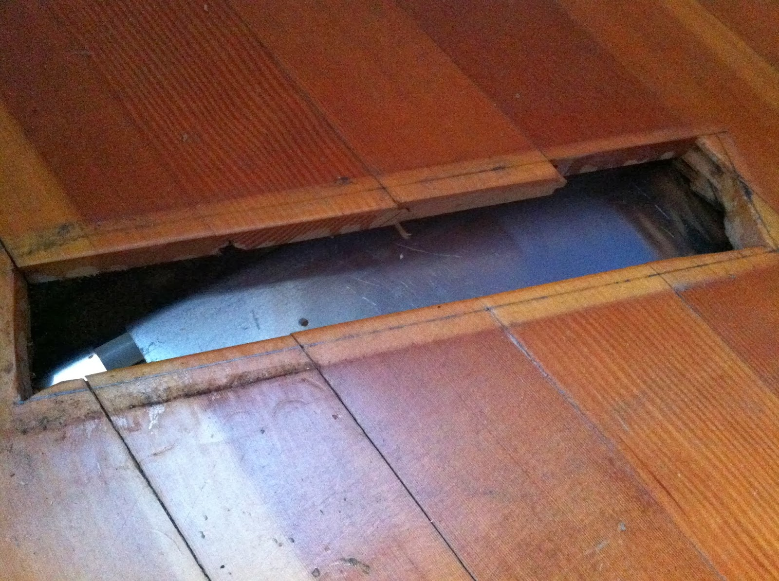 As A Result Of The Heating System Upgrade Ducts From Old Were Removed Leaving Holes In Wood Floor Previous Supply And Return