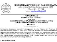 Juknis Seleksi Penerimaan CPNS Kemendikbud 2017