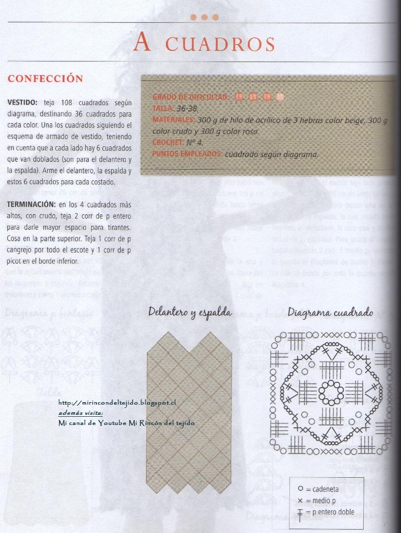 Contemporáneo Patrón Cuadrado Doble Granny Crochet Bosquejo - Ideas ...
