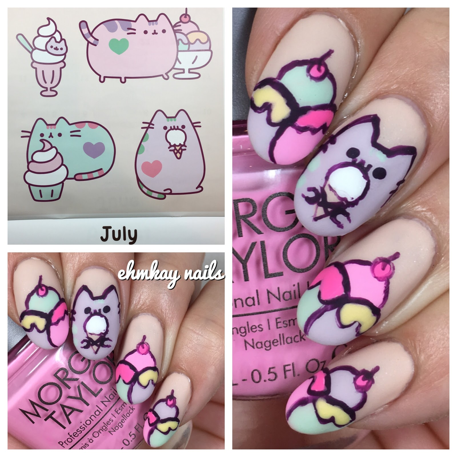 I Want To Cuddle With You Quotes: Ehmkay Nails: Pusheen Calendar Series: July 2017 Pusheen