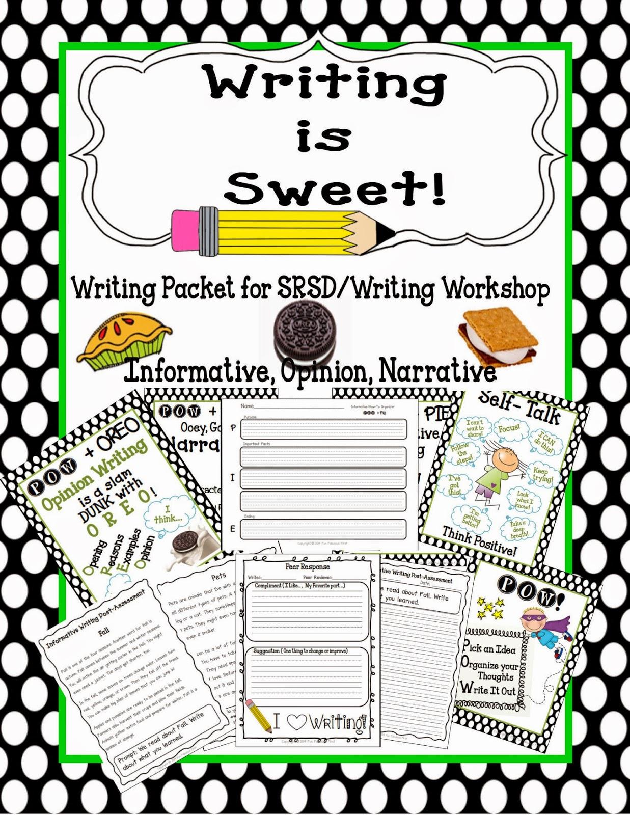 Fun Fabulous First Sweet Writing Srsd Writer S Workshop