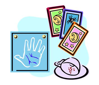 Divination - fortune telling cards, palmistry