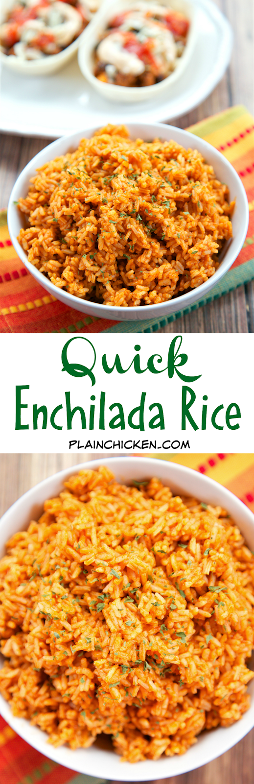 Quick Enchilada Rice - only 2 ingredients! Ready in 5 minutes! Tastes just like the Mexican restaurant. We make this all the time!