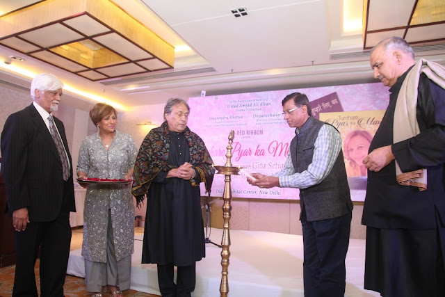 Lightening Ceremony- Mr. Deepak Setia. Singer Gita, Ustad Amjad Ali Khan Padma Vibhushan, Mr. Dnyaneshway Mulay- Ministry of External Affair and Dr. Madhup Mohta. new
