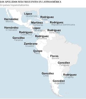Los apellidos más utilizados en Suramérica. Los apellidos más comunes en Latinoamérica. Cuál es el apellido más común de Latinoamérica. Origen de los apellidos venezolanos. Apellidos más comunes que se utilizan en Latinoamérica