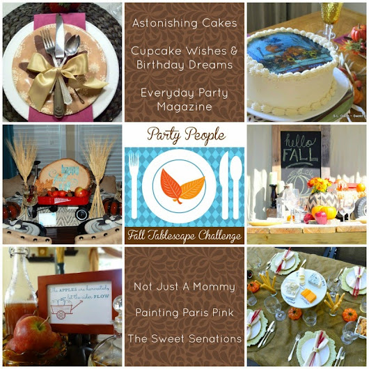 {Entertaining Ideas} Fall Tablescape Challenge