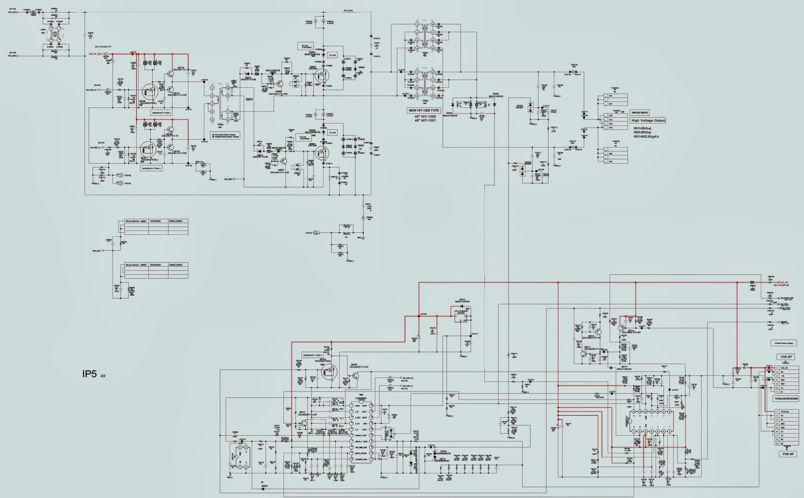 SONY KDL 40U4000  FLAT PANEL TV  POWER SUPPLY [SMPS