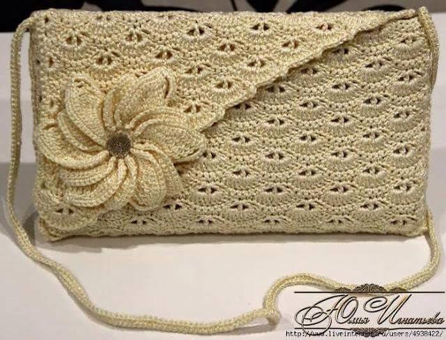 Patrón #795: Cartera a Crochet