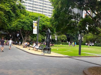 Public park in Circular Quay Sydney Australia