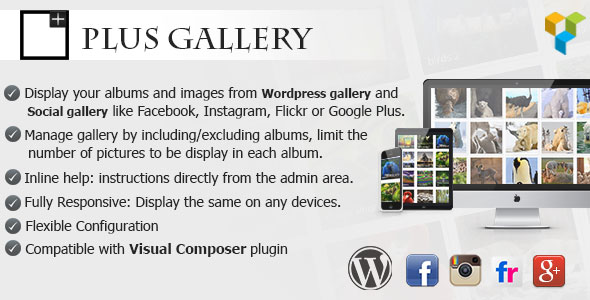 Plus Gallery v3.0.4 – A Responsive photo WP gallery and Social gallery