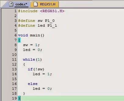 8051 Port Programming In C