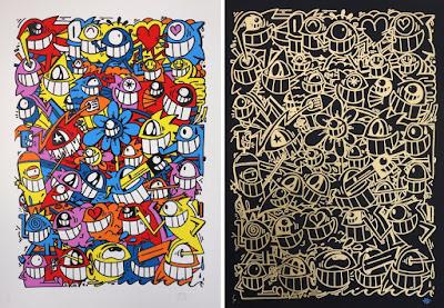 Happy Crew Screen Print by El Pez x Graffiti Prints