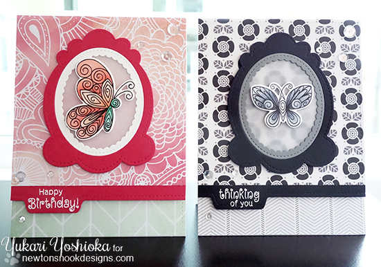 Buttterfly Card by Yukari Yoshioka | Beautiful Wings Stamp set by Newton's Nook Designs #newtonsnook #butterfly