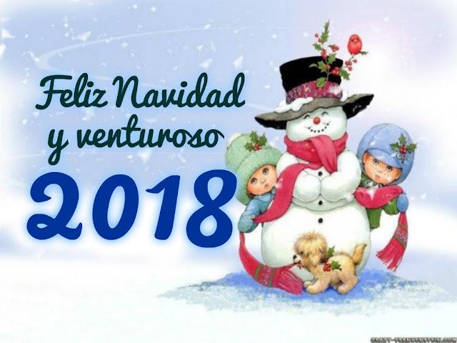 Feliz navidad y año 2018 imágenes para facebook