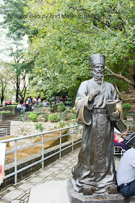 Bronze statue of Matteo Ricci at the garden of Monte Fort, Fortaleza Do Monte,Macau.