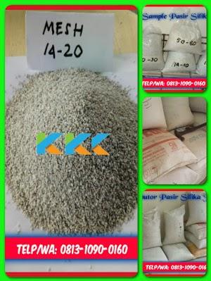 Pasir Silika Bangka Mesh 14-20 Kemasan 50 Kg
