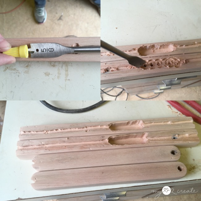 making a place for wiring on wall sconce
