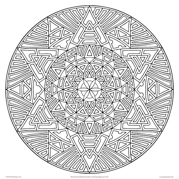 Kaleidoscope Coloring Pages Kaleidoscope Coloring Pages Whataboutmimi  Picture