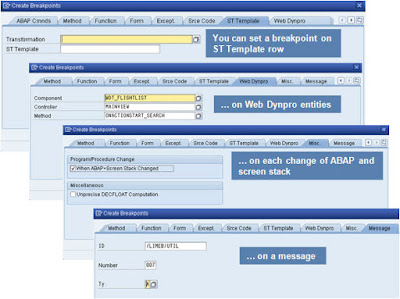 News in ABAP Debugger Breakpoints and Watchpoints ,Statement Debugging