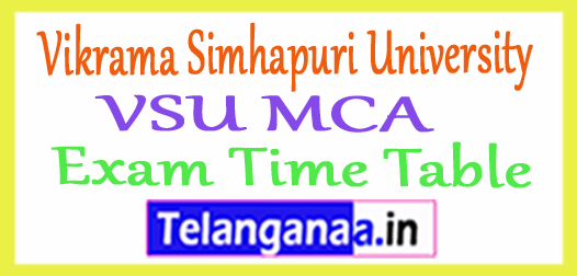 Vikrama Simhapuri University VSU MCA Exam Time Table