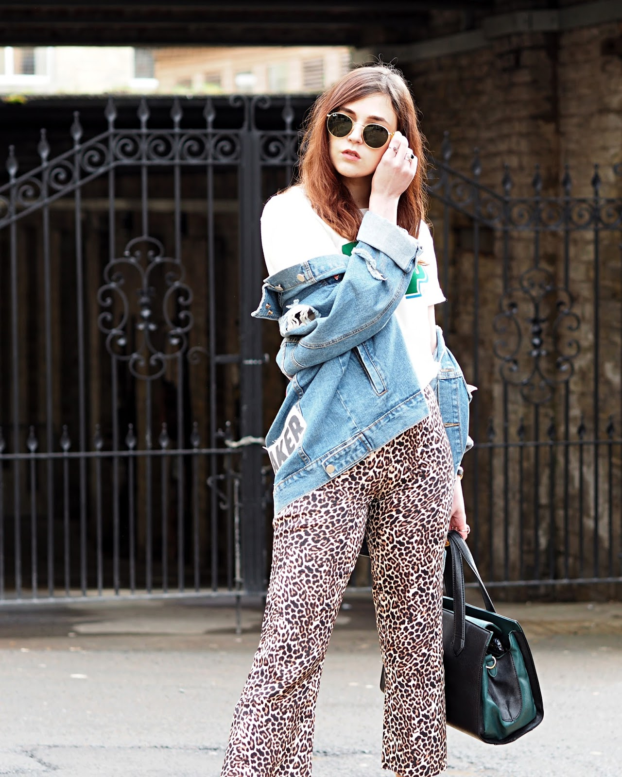 denim and leopard print