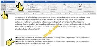 Langkah 6 Cara Membuat Footnote Di Microsoft Word 2016