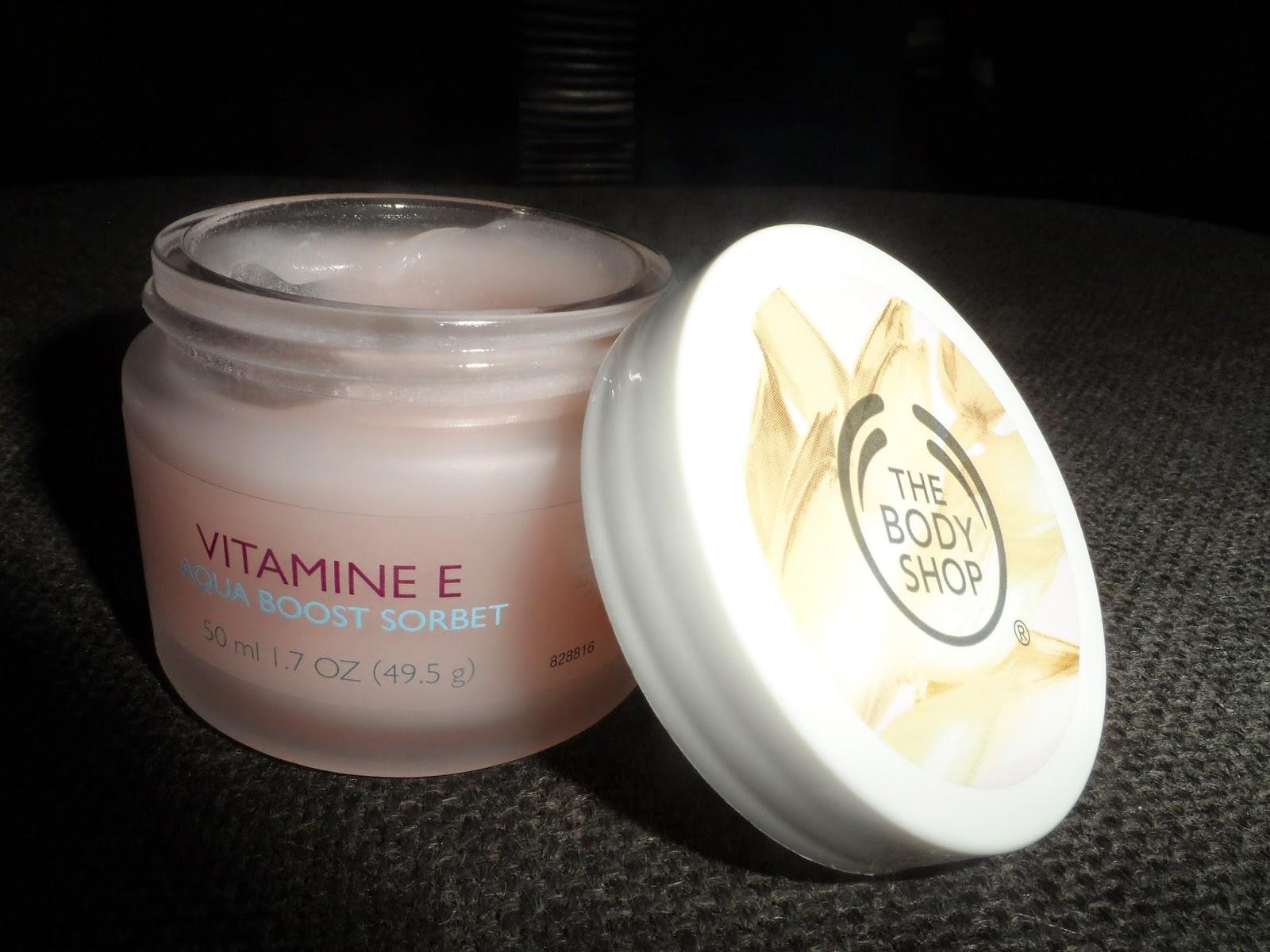 Vitamin E Aqua Boost Sorbet Body Shop Cool Skin Treat