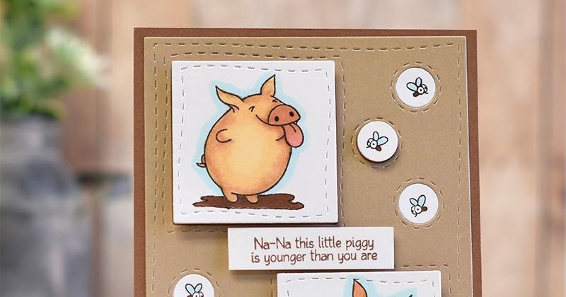 Pig Pun Paper Door - Na-Na - NewAmped2Stamp