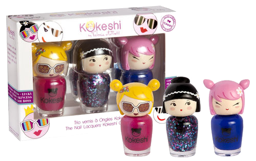Vernis Kokeshi : colorés et girly