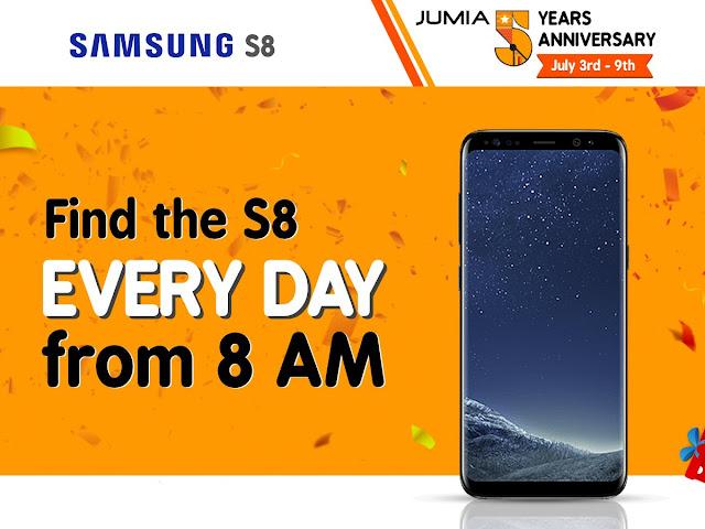 Samsung S8 at 5 Bob