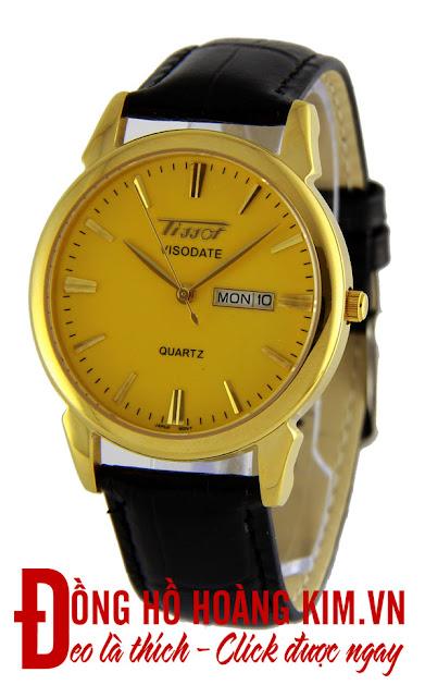 Đồng hồ nam dây da giá dưới 1 triệu Tissot T82v