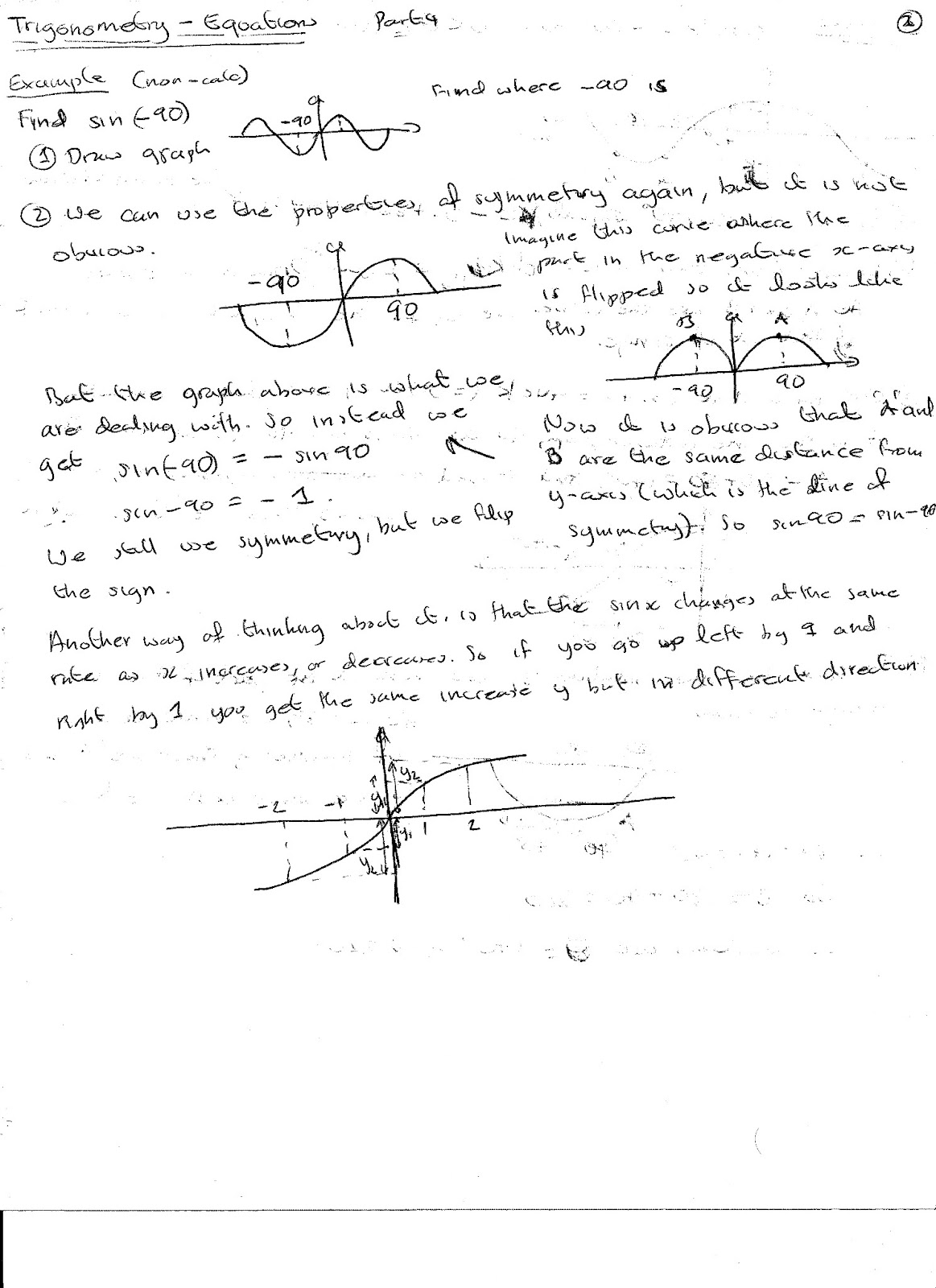 A Level Maths Notes Trigonometry