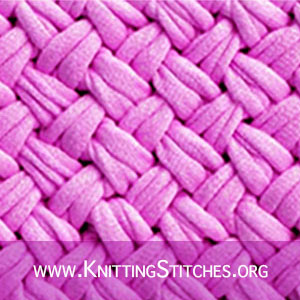 Knitting stitch patterns: Diagonal Basket Weave stitch aka Criss-Cross Basket Weave Stitch.