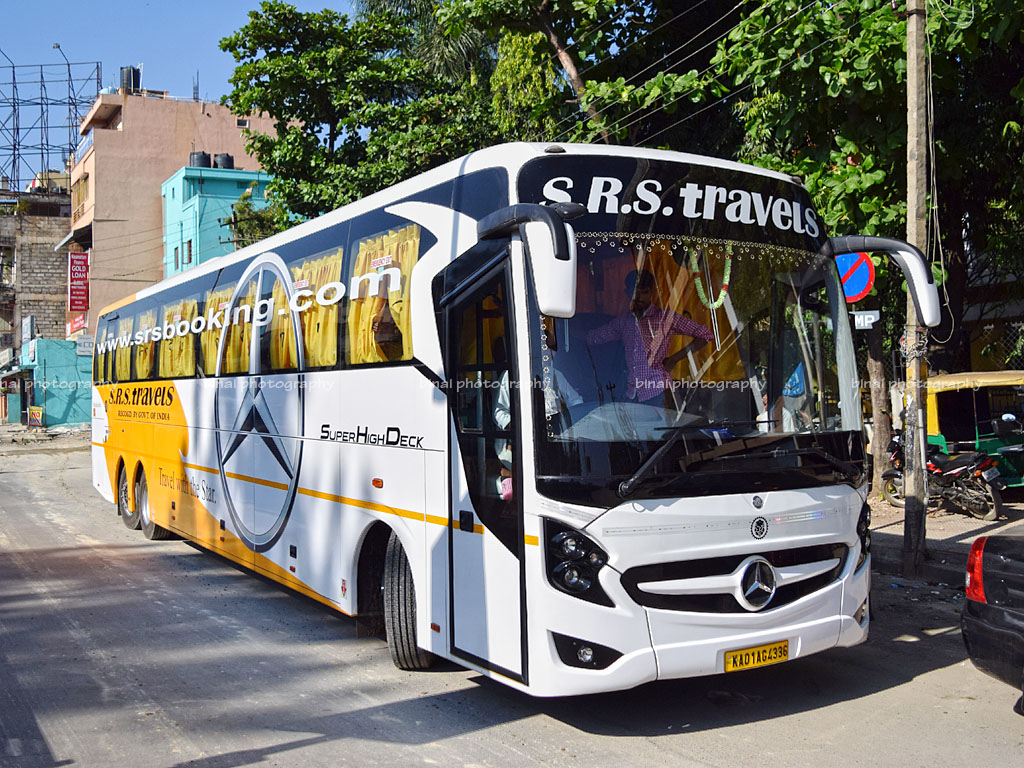 coimbatore to bengaluru: srs travels' mercedes benz shd