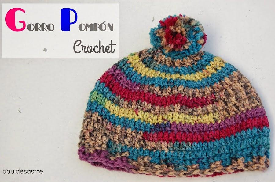 tutorial gorro lana a crochet