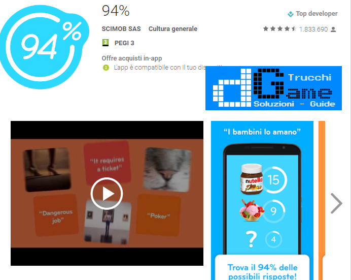Soluzioni 94%  livello 70 | Trucchi e Walkthrough level