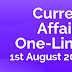 Current Affairs One-Liner: 1st August 2019