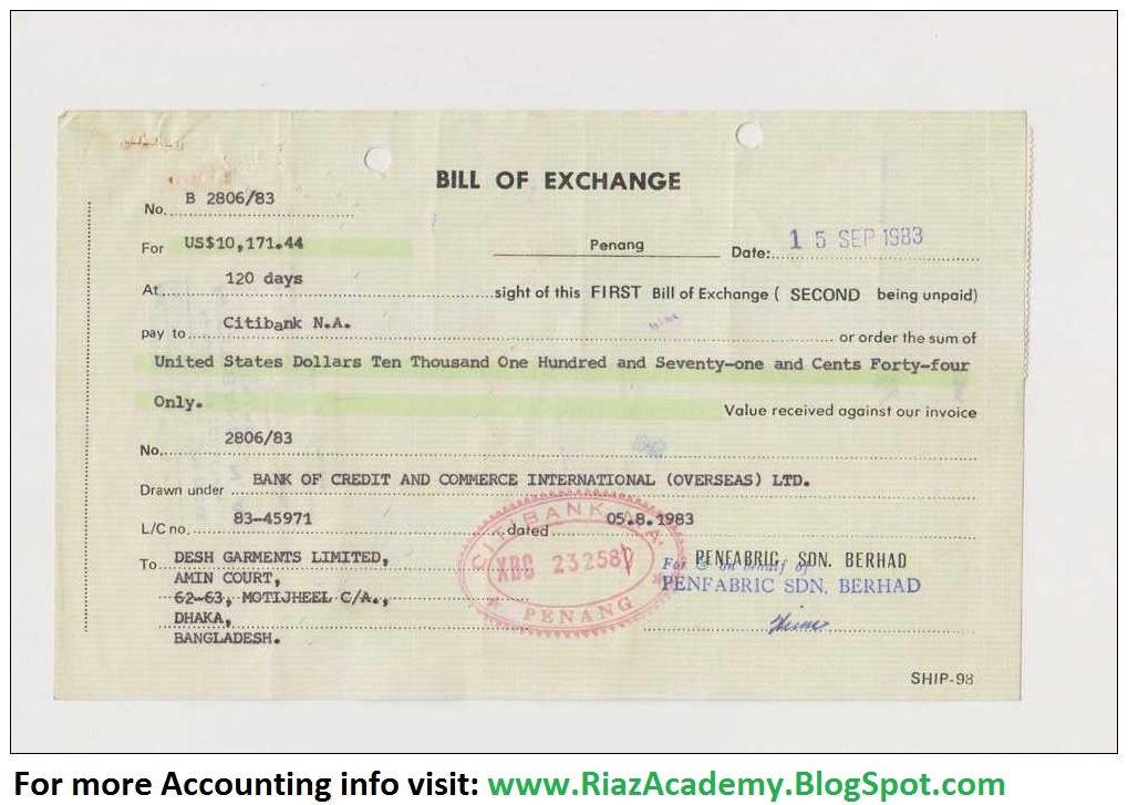 bill of exchange sample resume-templatepaasprovider - bill of exchange sample