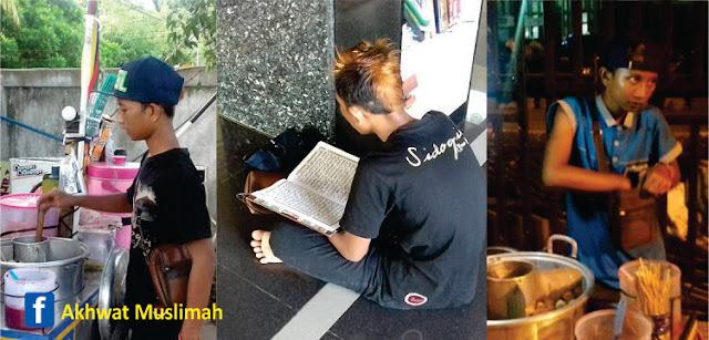 Ternyata Remaja Berambut Pirang Penjual Pentol itu Ternyata Hafal 25 Juz Al-Qur'an