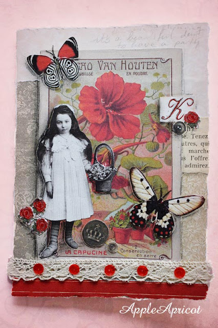 Shabby vintage card by AppleApricot